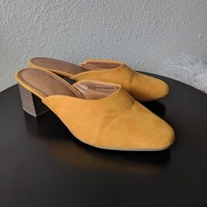 Universal Threads | Yellow Suede Mules